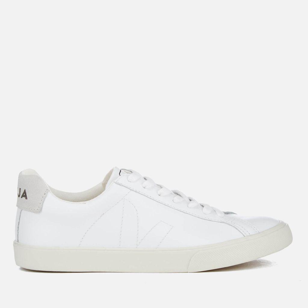 Veja Men's Esplar Low Leather Trainers - Extra White