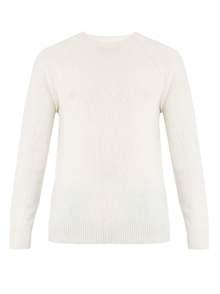 Crew-neck lambswool sweater
