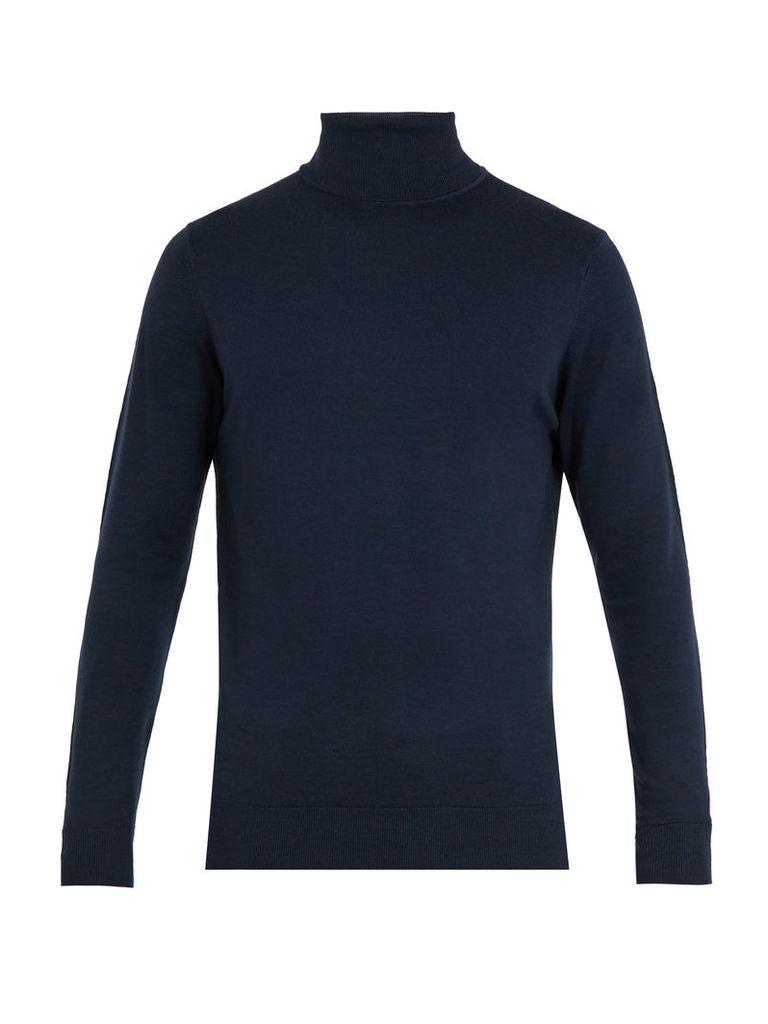 Roll-neck wool sweater
