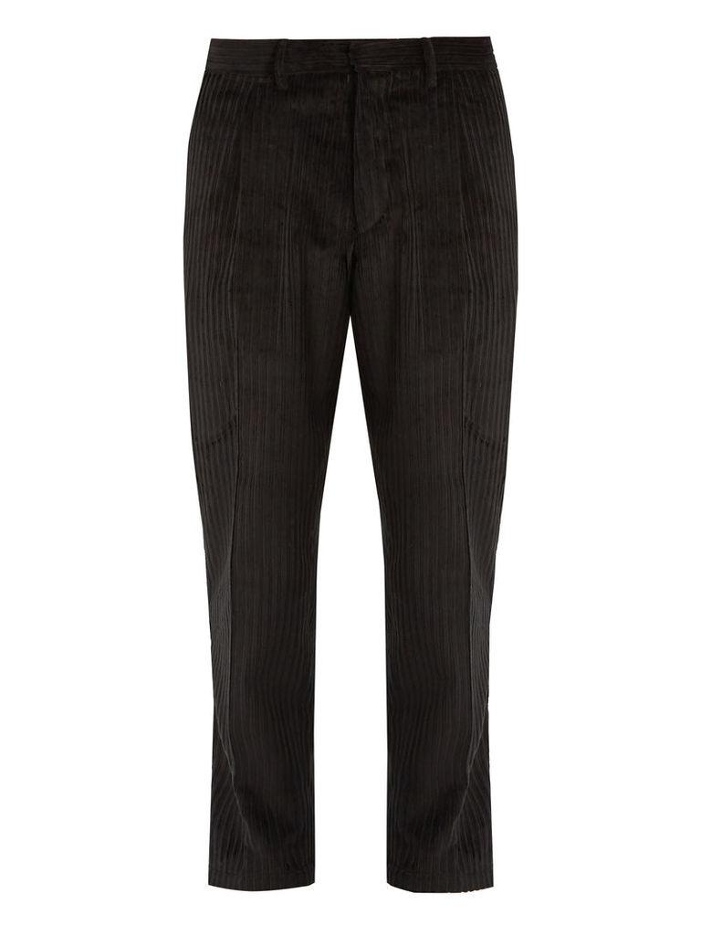 Tonga tapered-leg cropped cotton-corduroy trousers