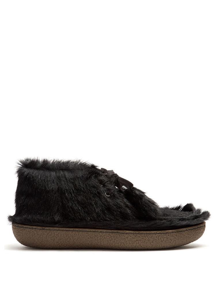 Calf-hair desert boots