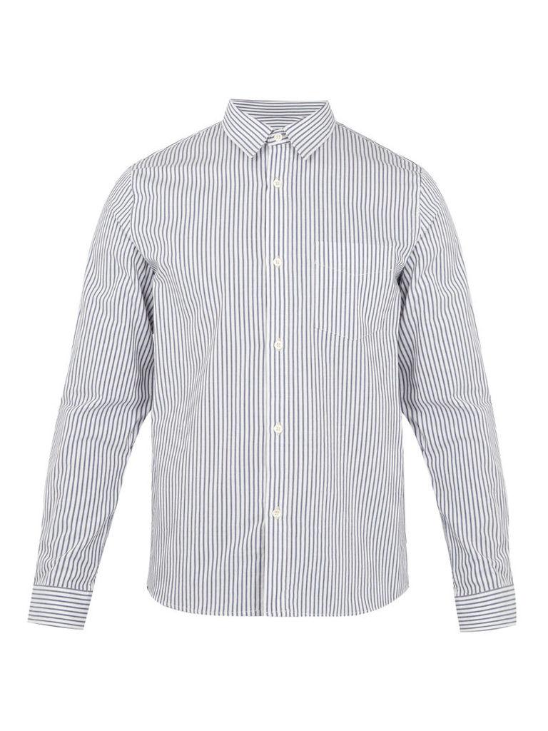 Sportswear striped cotton shirt