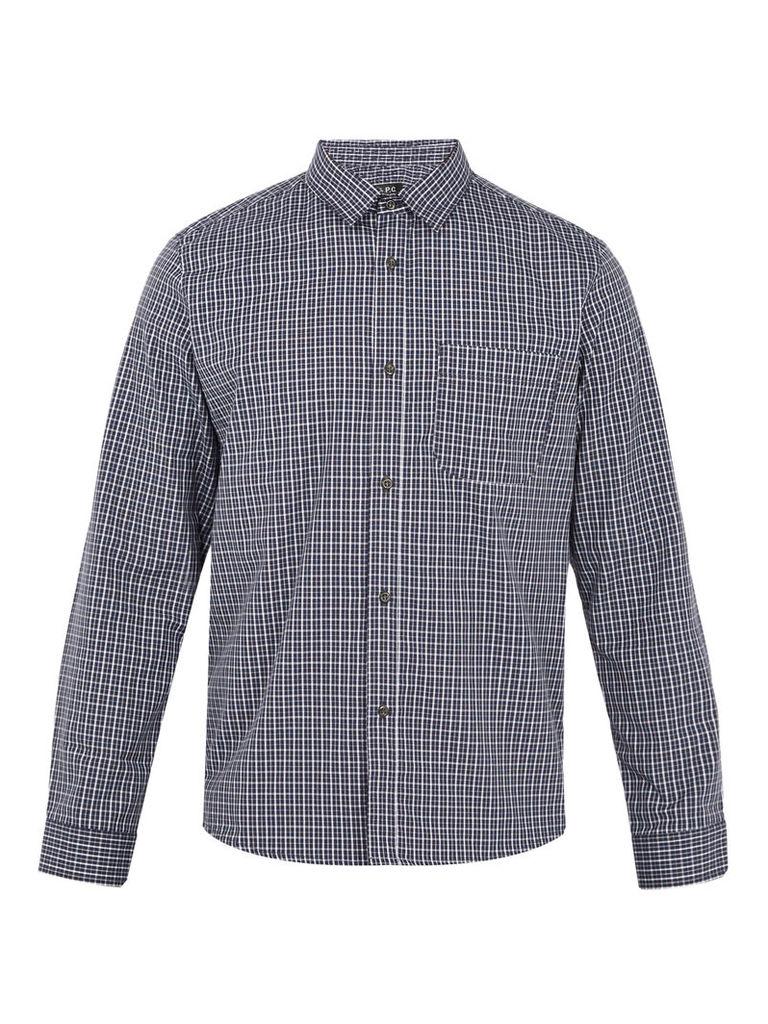 Trek checked cotton shirt