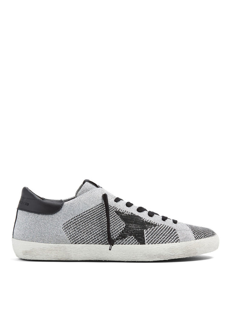 Super Star low-top knit trainers