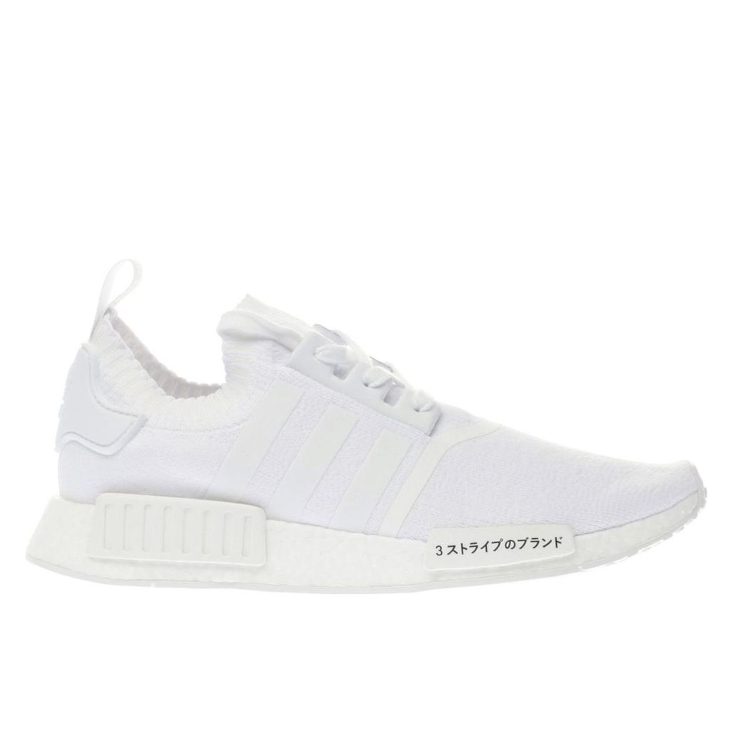 adidas white nmd_r1 primeknit trainers