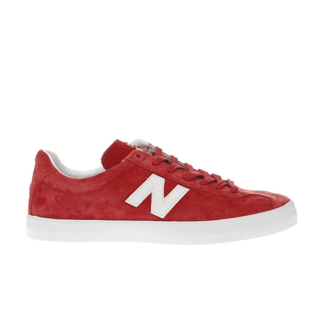 new balance red tempus trainers