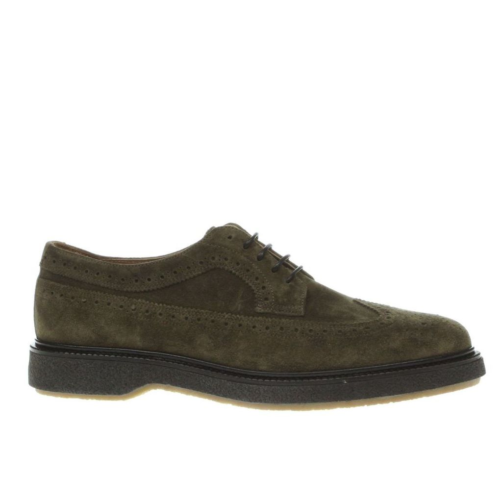 red or dead khaki mr morgan long wing shoes