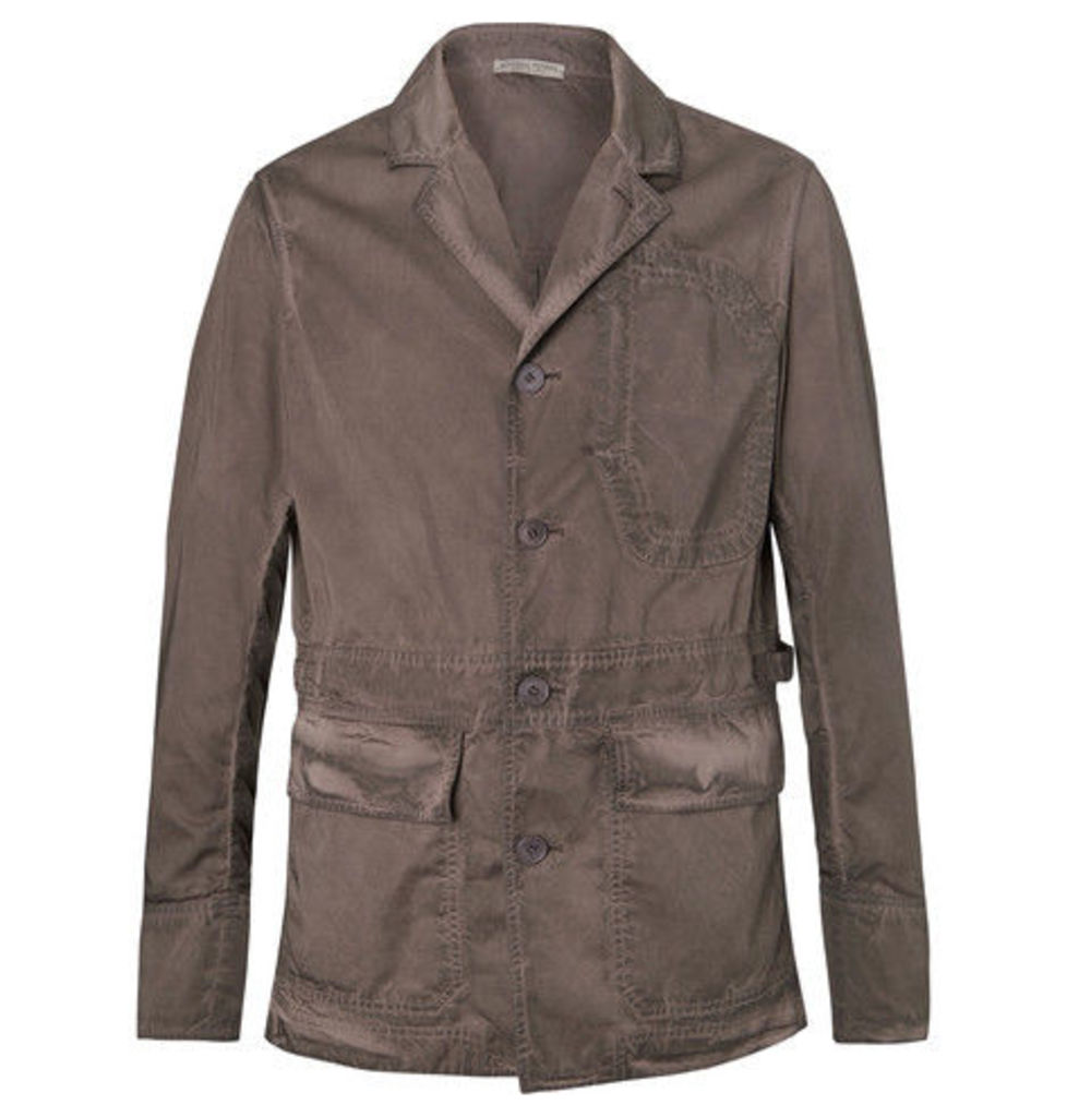 Bottega Veneta - Garment-dyed Cotton Blazer - Gray