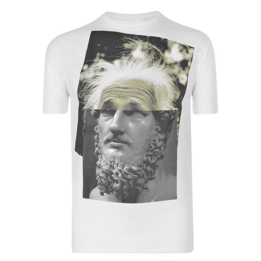 NEIL BARRETT Einstein Hybrid T Shirt