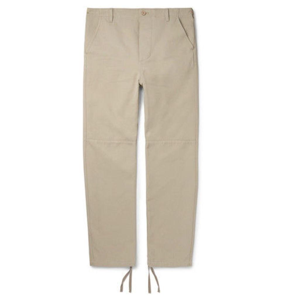 Balenciaga - Panelled Cotton-twill Trousers - Stone