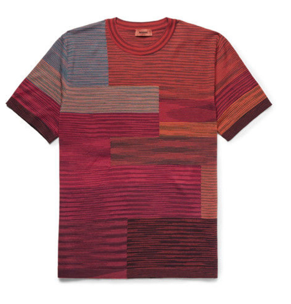 Missoni - Space-dyed Wool-blend T-shirt - Red