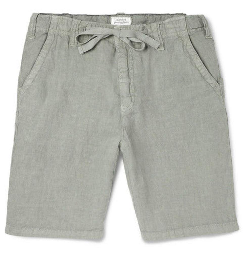 Hartford - Slub Linen Drawstring Shorts - Stone