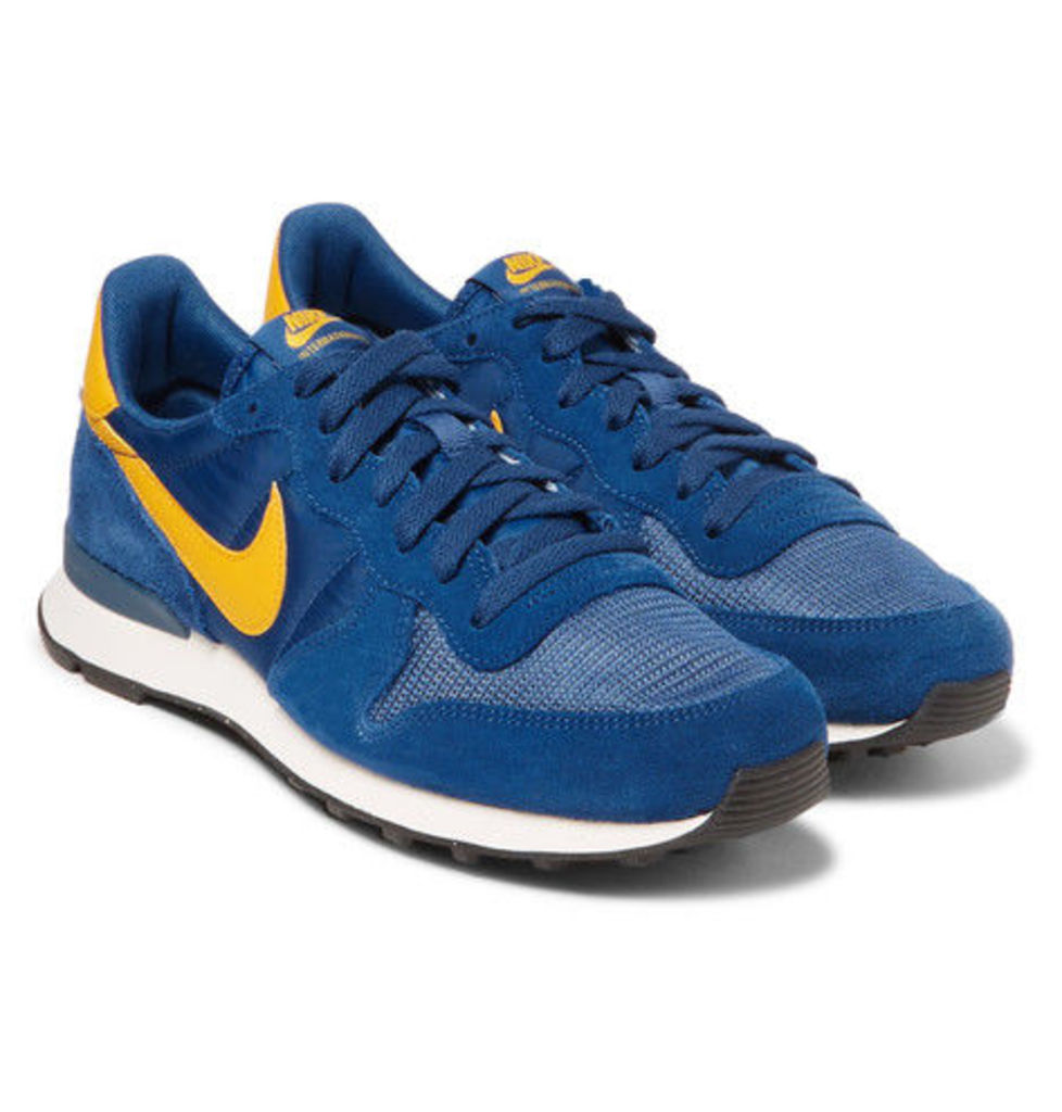 Nike - Internationalist Suede, Shell And Mesh Sneakers - Blue