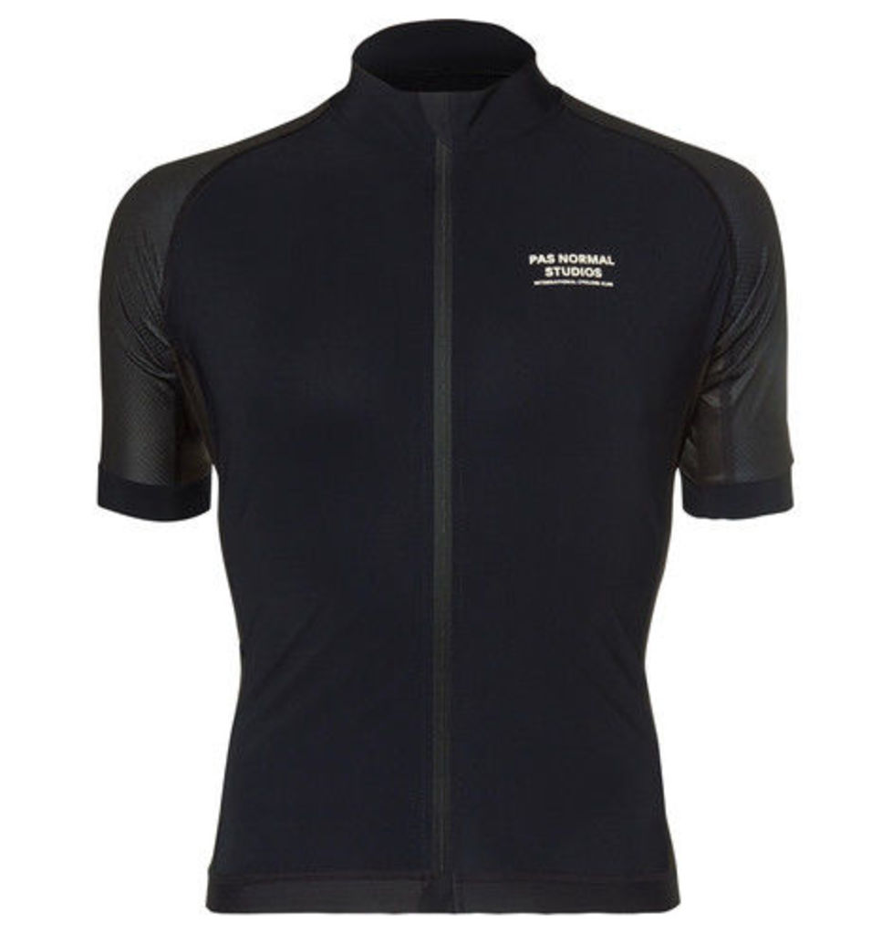 Pas Normal Studios - Essential Perforated Zip-up Cycling Jersey - Black