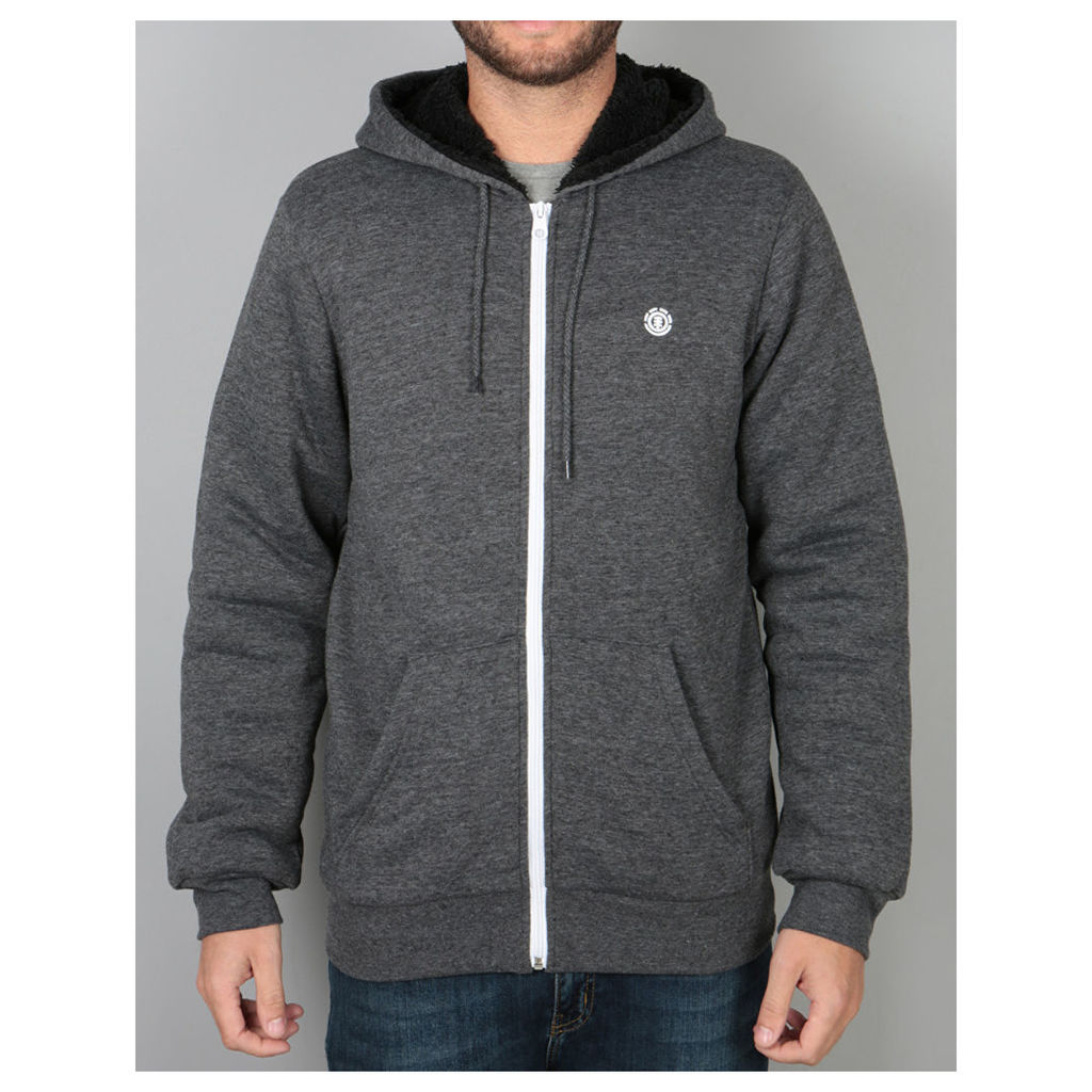 Element Bolton Sherpa Zip Hoodie - Charcoal Heather (L)