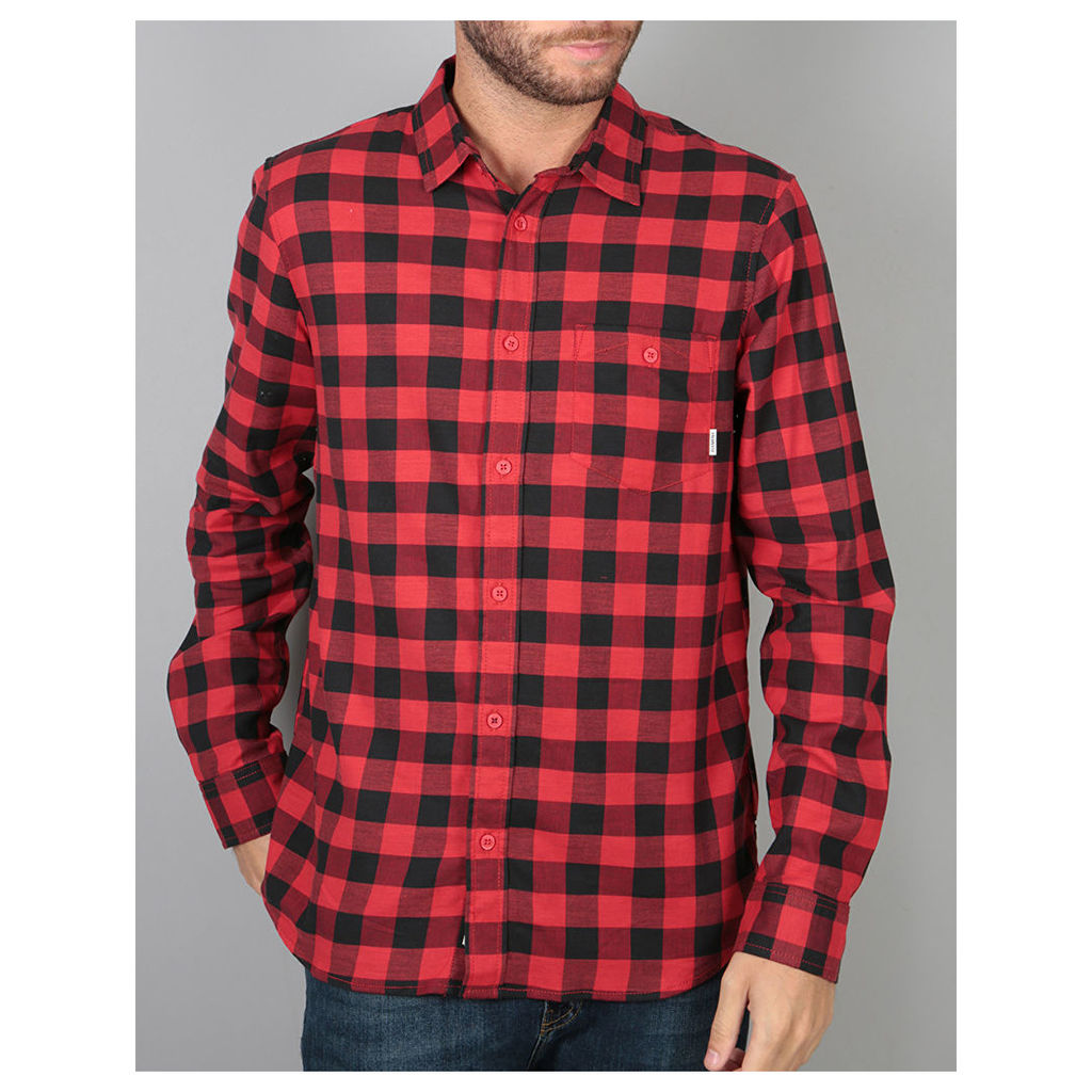 Element Jedway L/S Shirt - Red (L)