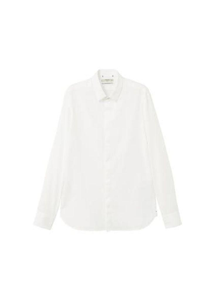 Modern slim-fit structure shirt