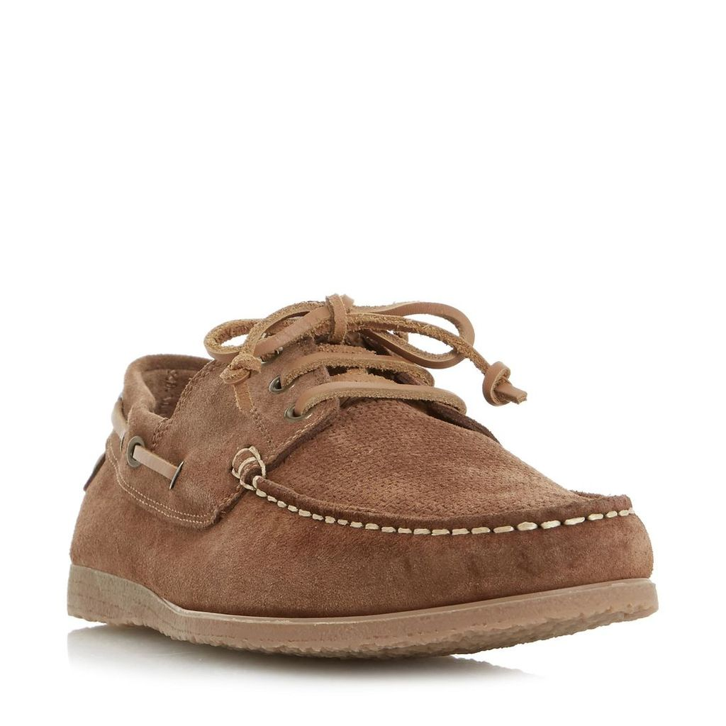 Beach House Suede Lace Up Boat Shoe