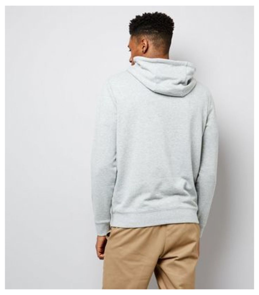 Grey Pocket Front Hoodie New Look