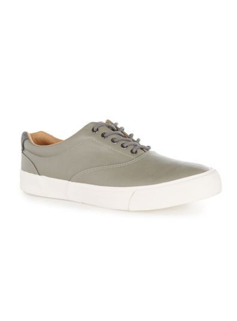 Mens Grey Miles Oxford Trainers, Grey