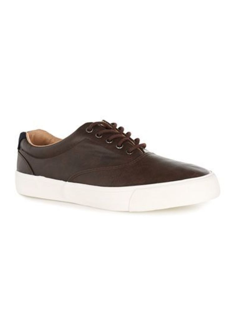 Mens Brown Miles Oxford Trainers, Brown