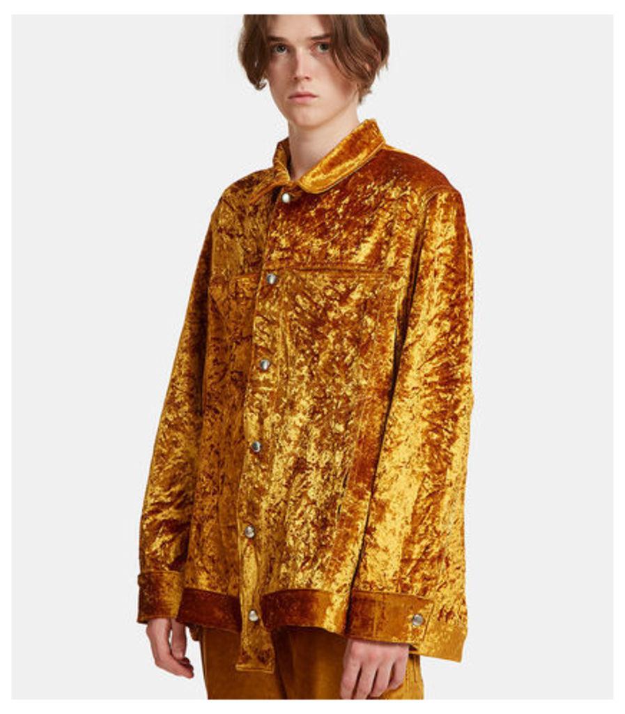 Oversized Metallic Velvet Jacket