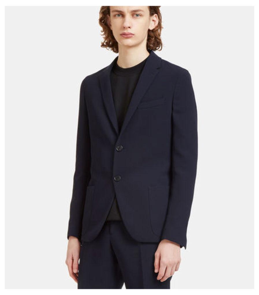 Technical Single-Breasted Blazer Jacket