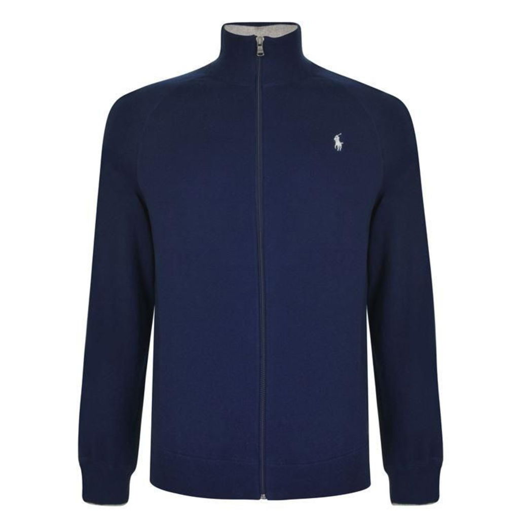 POLO RALPH LAUREN Long Sleeved Logo Zip Sweatshirt