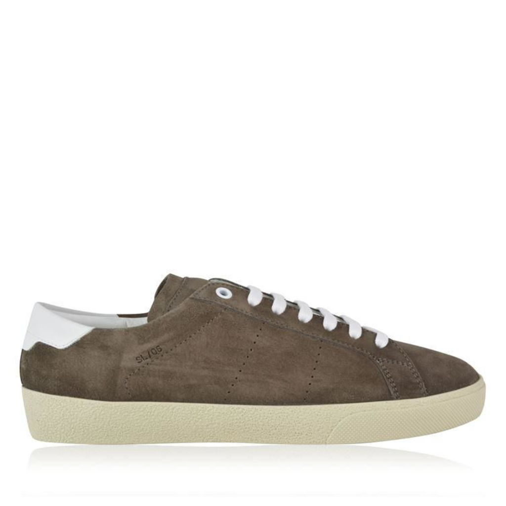 SAINT LAURENT Court Classic Low Top Suede Trainers