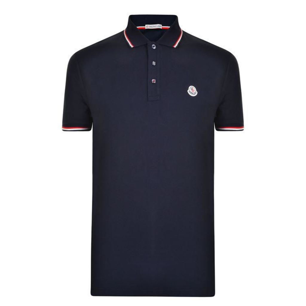 MONCLER Tri Trim Polo Shirt