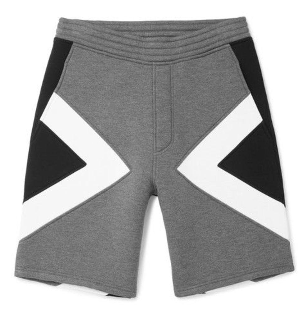 Neil Barrett - Panelled Neoprene Shorts - Black