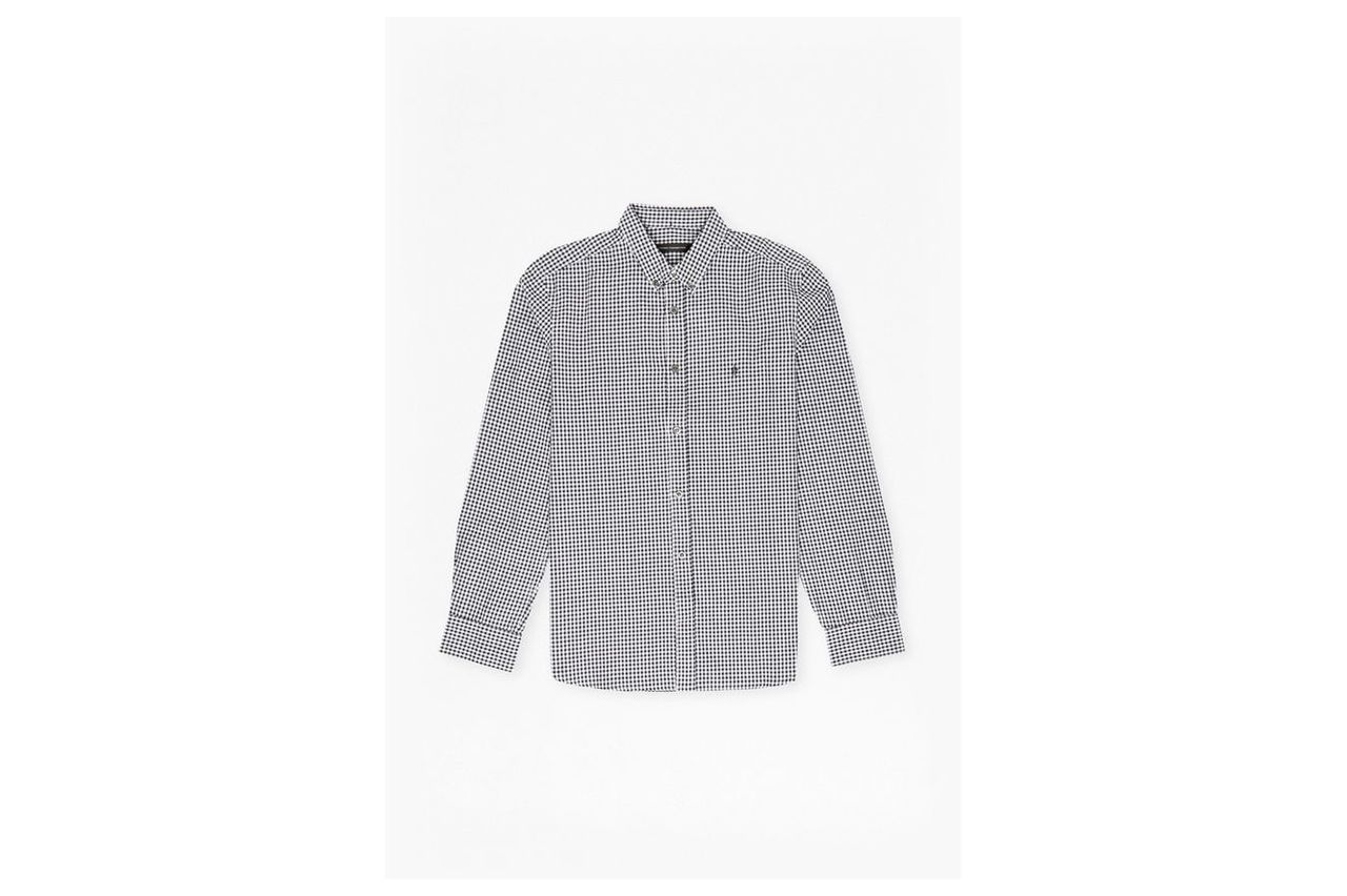 Check And Stripe Long Sleeved Shirt - marine gingham