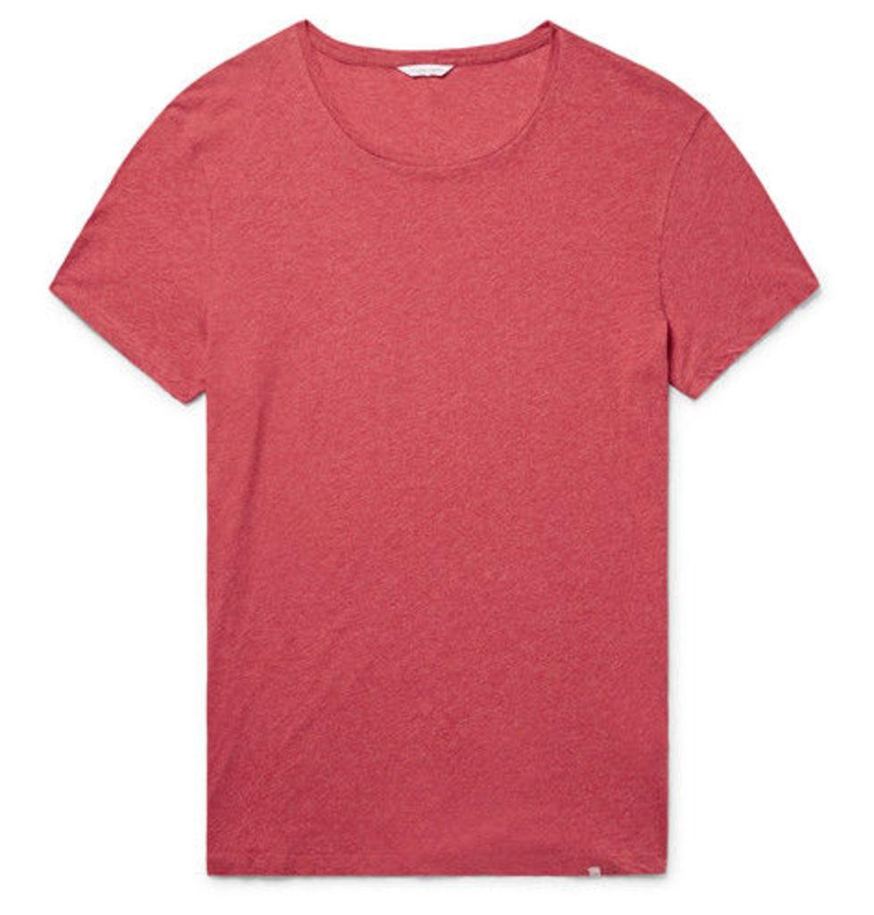 Orlebar Brown - Ob-t Slim-fit Mélange Cotton-jersey T-shirt - Tomato red