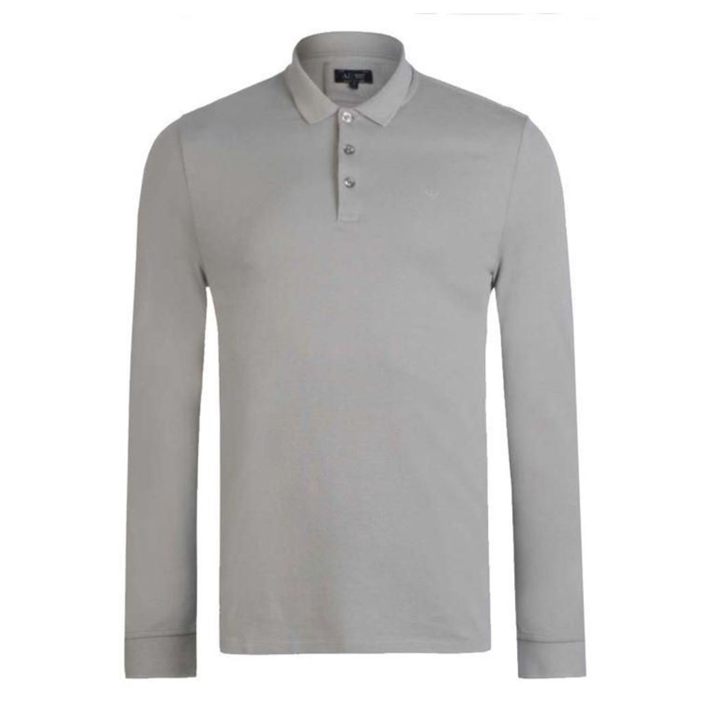 ARMANI JEANS Long Sleeved Polo Shirt