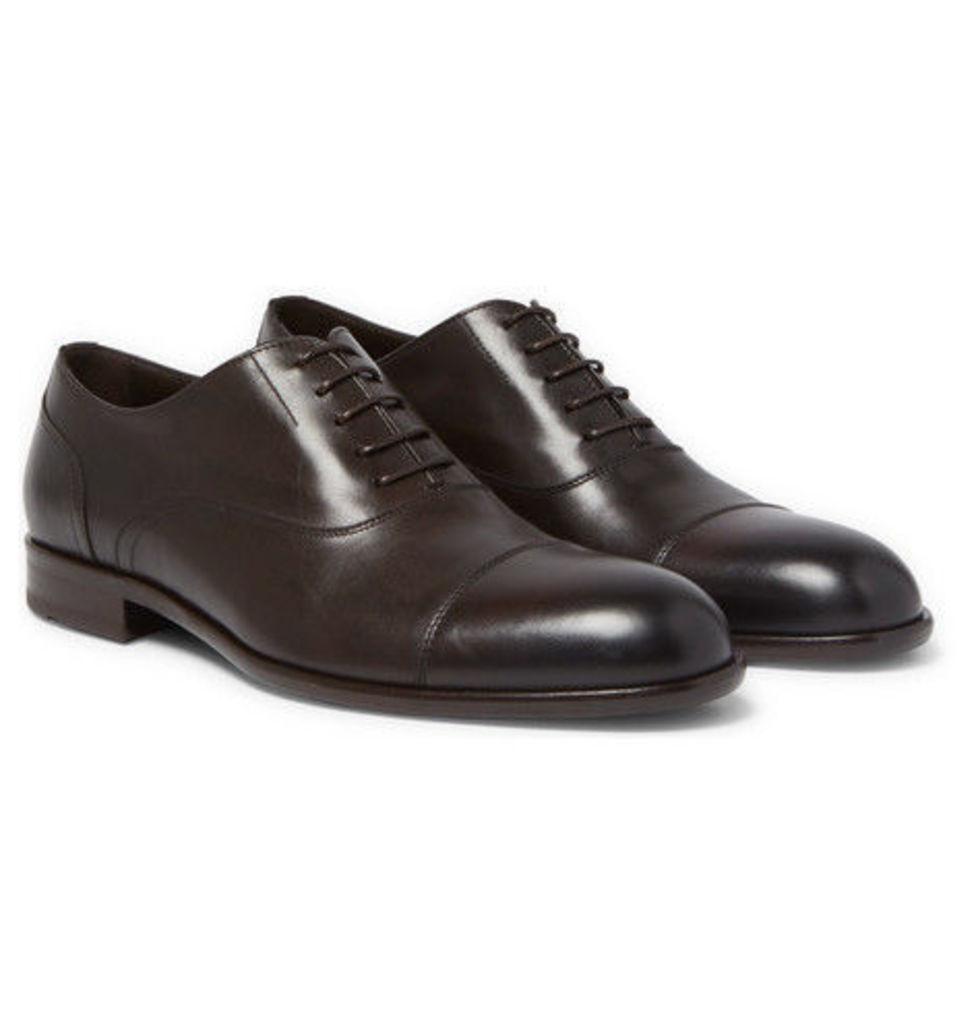 Hugo Boss - Manhattan Cap-toe Leather Oxford Shoes - Dark brown