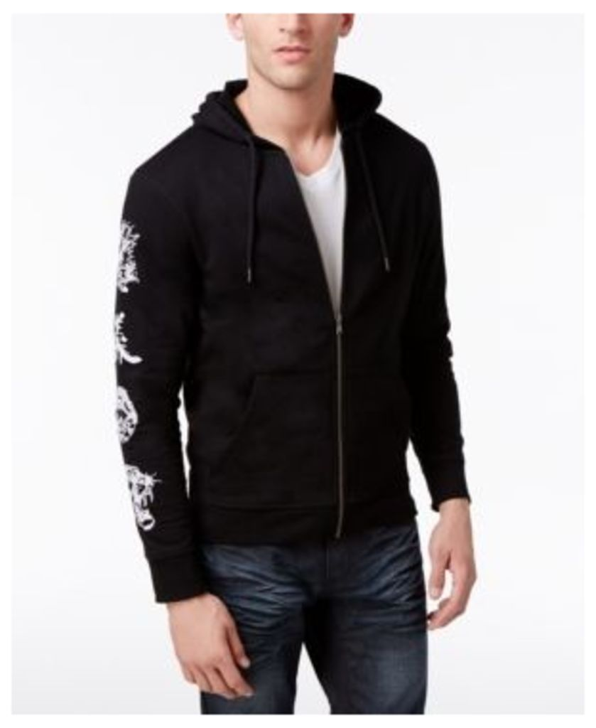 Inc International Concepts Men's Embroidered-Sleeve Hoodie, Created for Macy's
