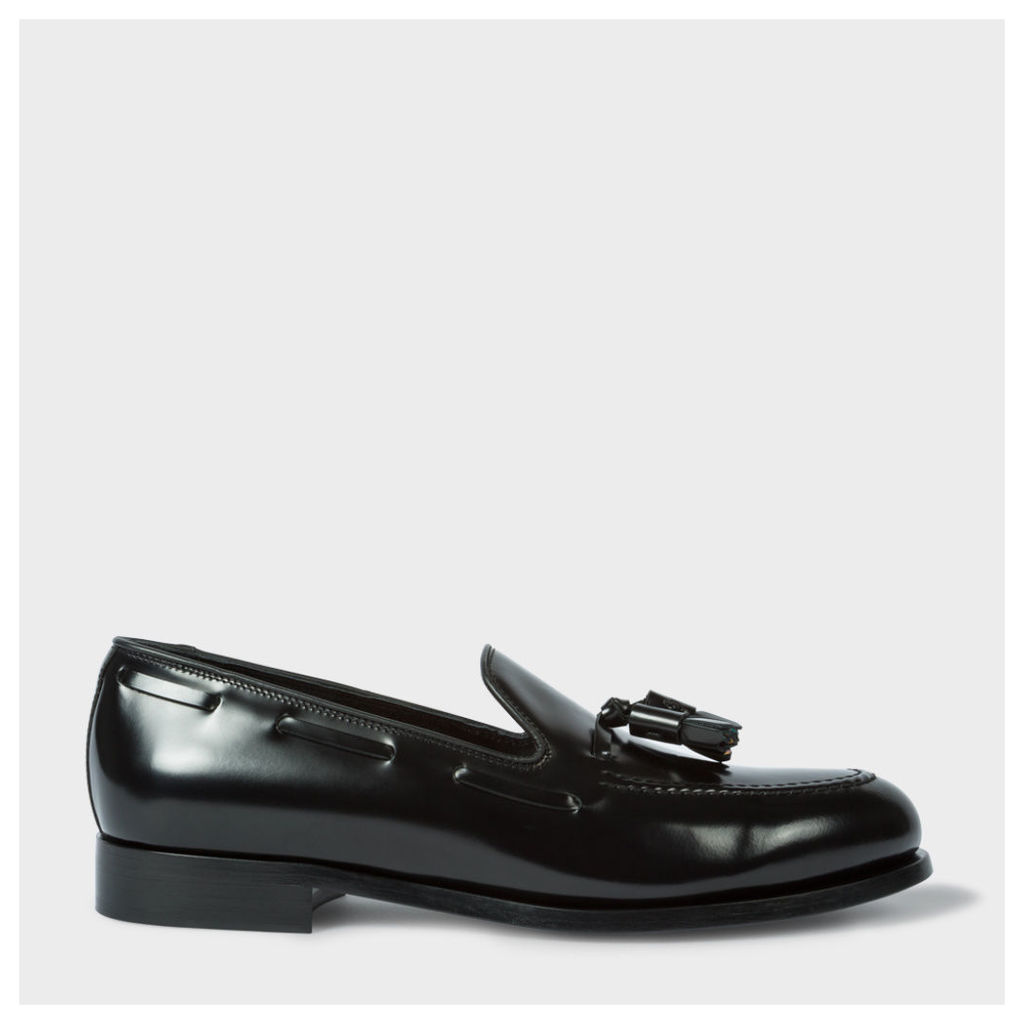 Men's Black Leather 'Simmons' Tasseled Loafers