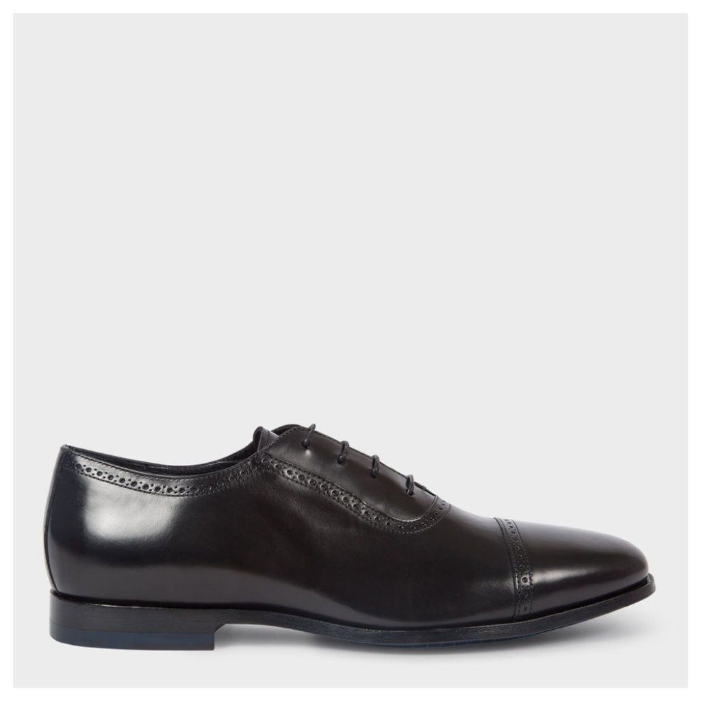 Men's Black Parma Calf Leather 'Amber' Oxford Shoes