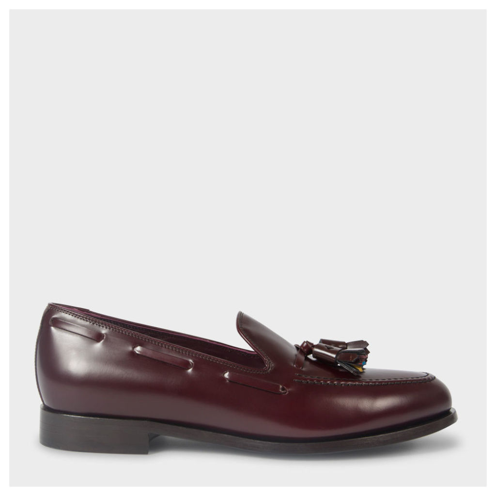 Men's Bordeaux Leather 'Simmons' Tasseled Loafers
