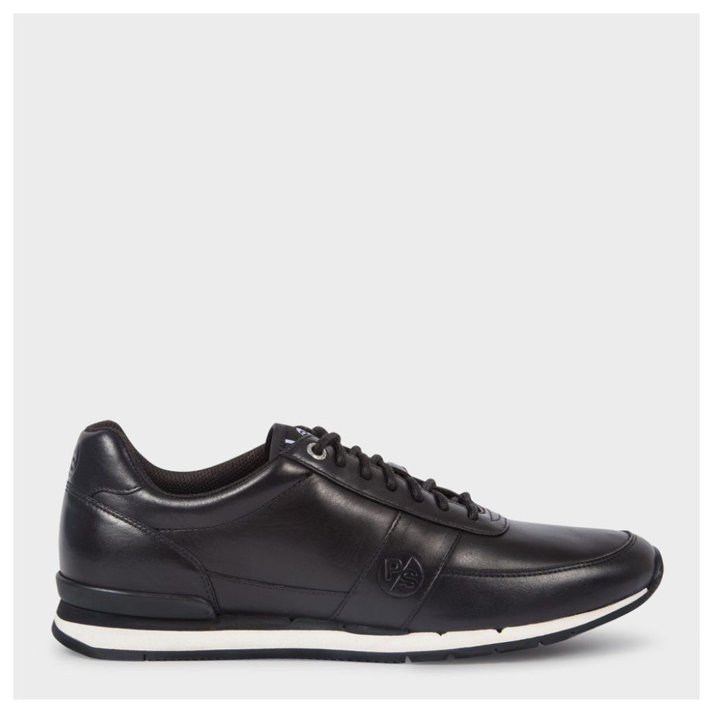 Men's Black Leather 'Swanson' Trainers