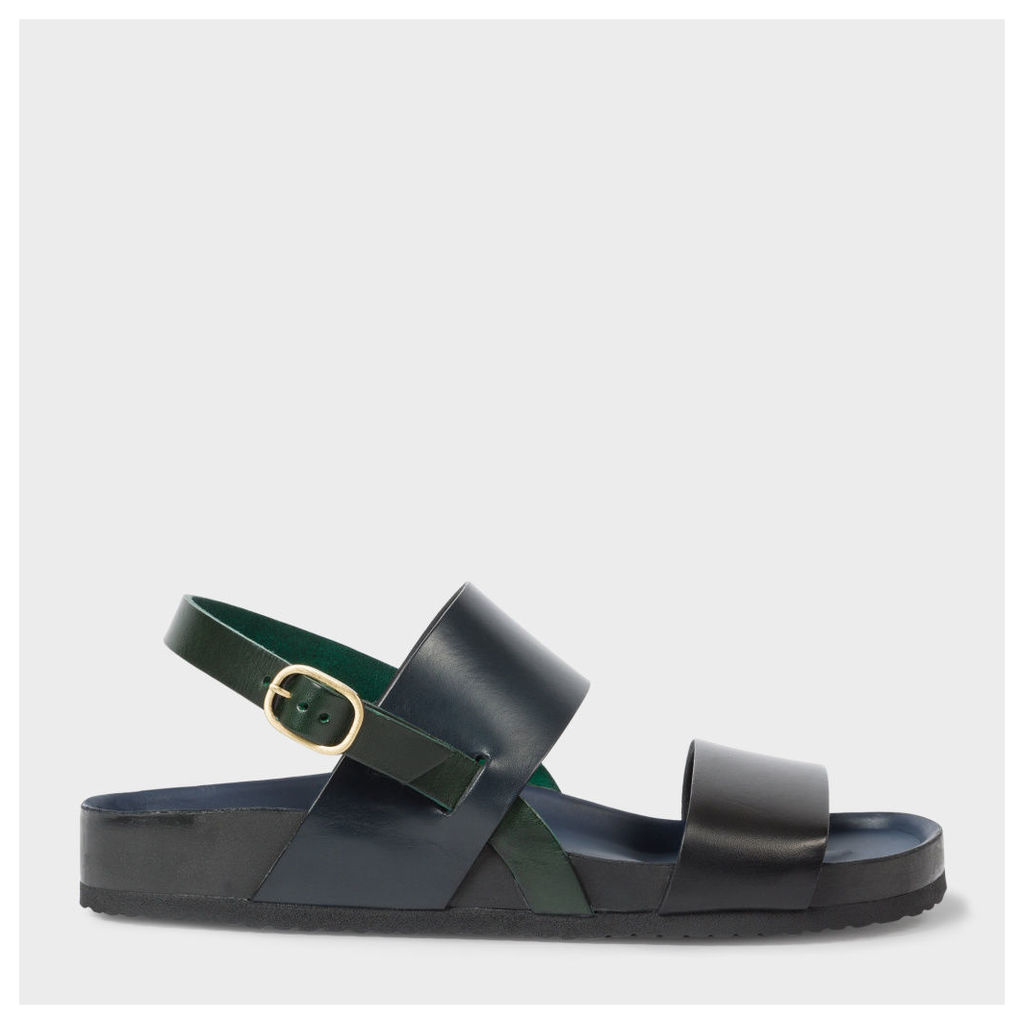 Men's Muted Colour-Block Calf Leather 'Syd' Sandals