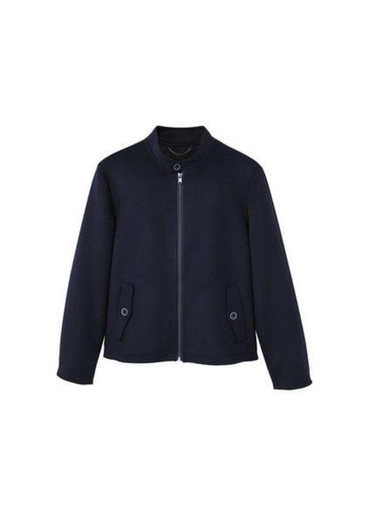Pocket wool-blend jacket