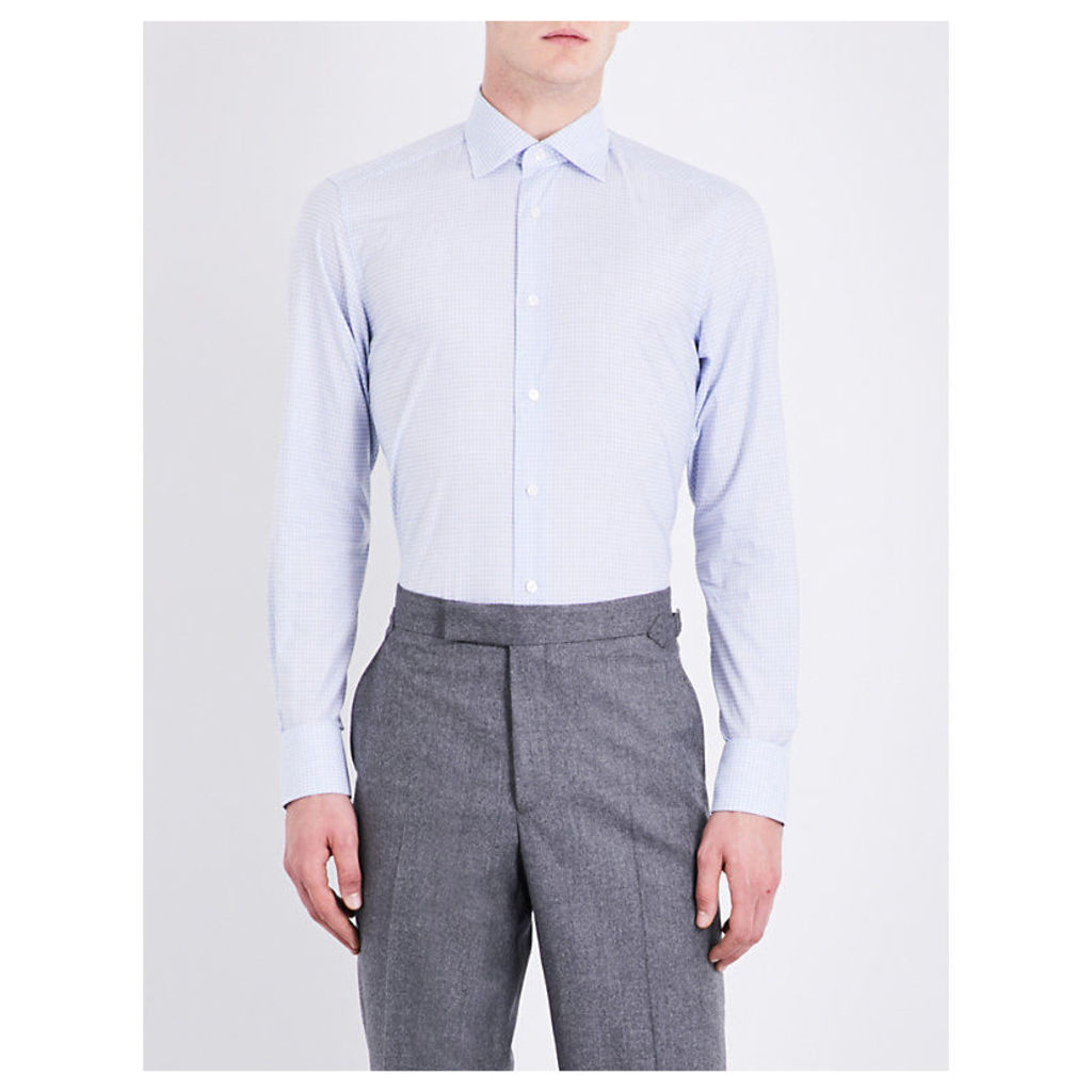 Checked tailored-fit cotton shirt