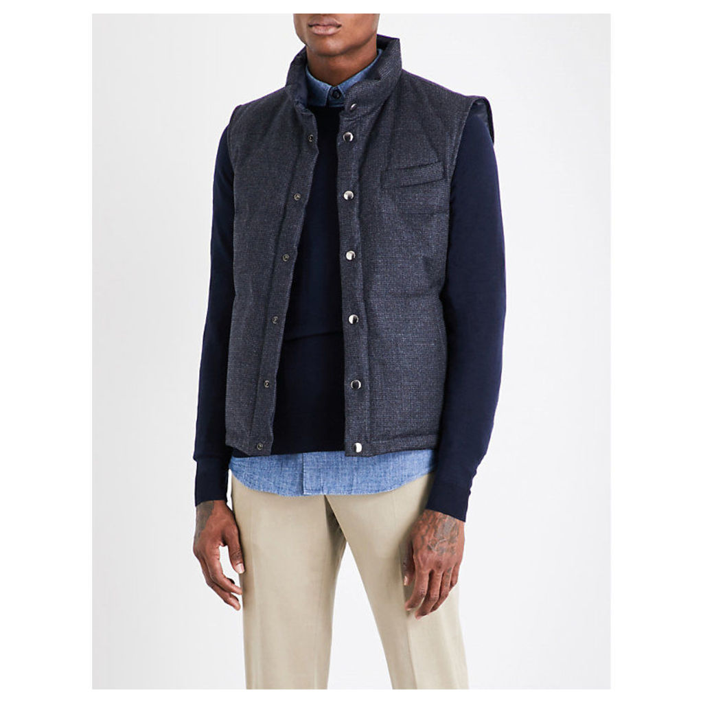 Reversible wool and cashmere-blend gilet