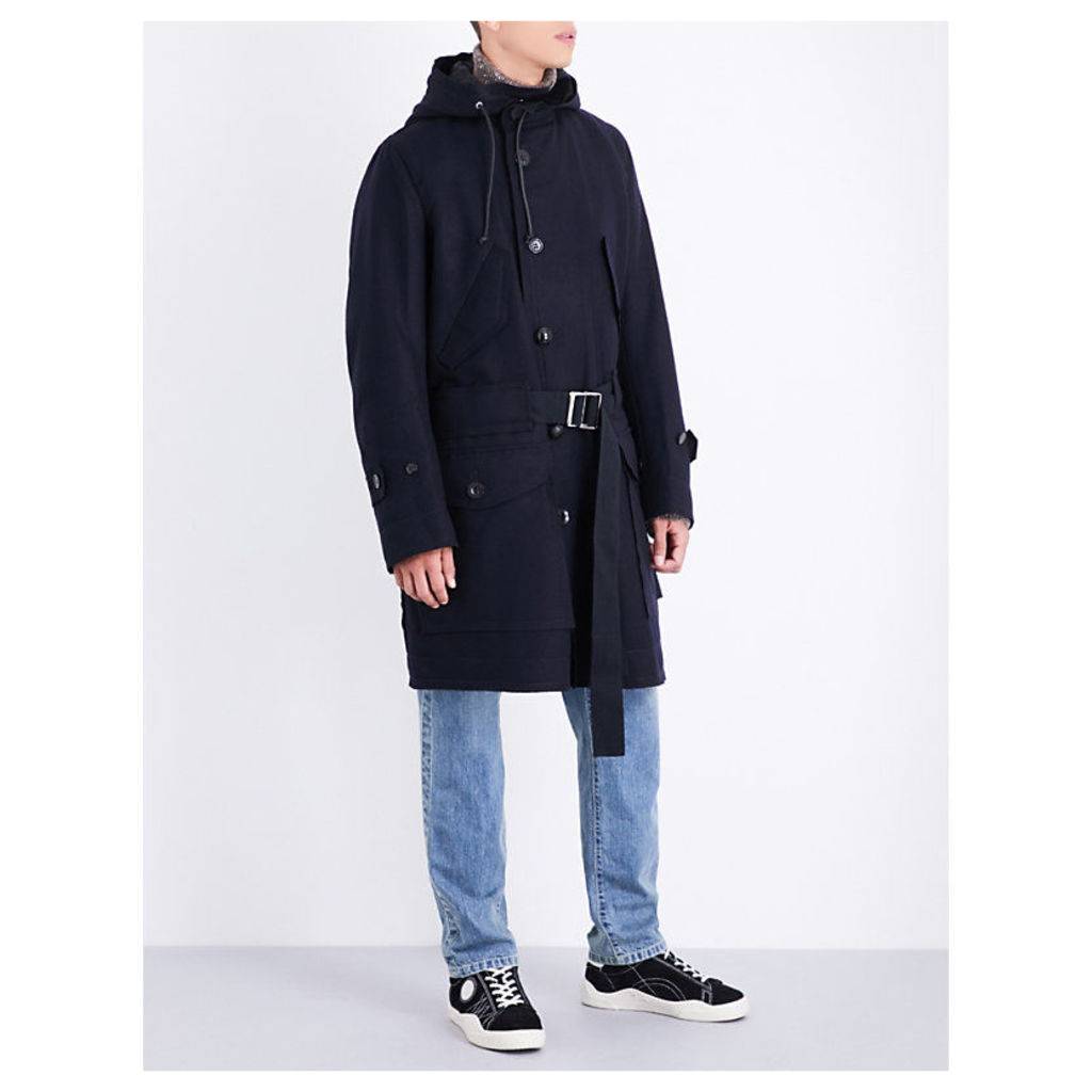 Melton wool parka