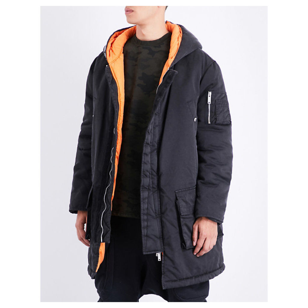 Hooded shell parka coat