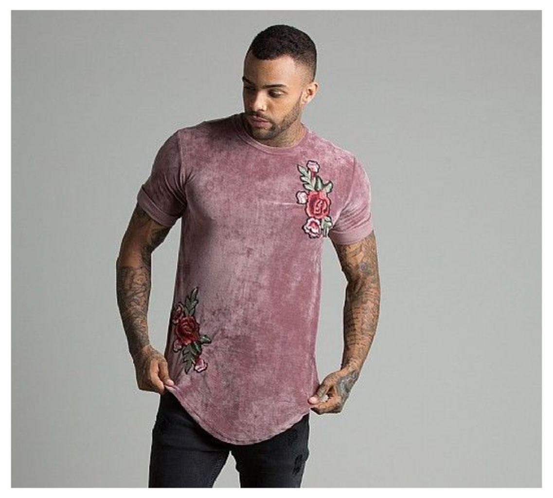 Applique Rose Velour T-Shirt