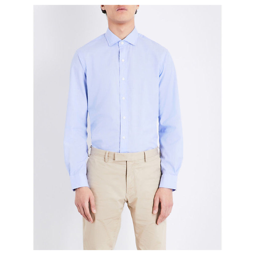 Regular-fit stretch-cotton shirt