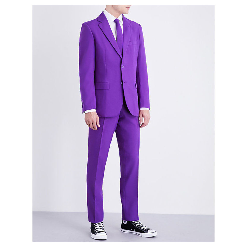 Purple Prince regular-fit woven suit
