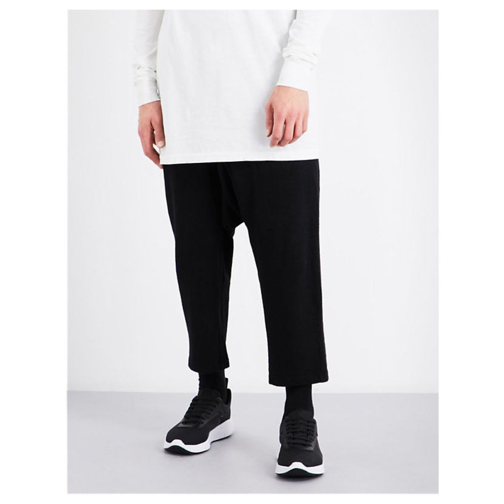 DRKSHDW Dropped-crotch cotton-jersey jogging bottoms